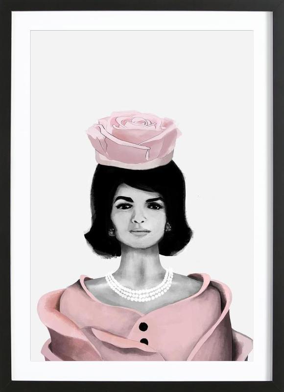 Jackie Rose -Bild mit Holzrahmen