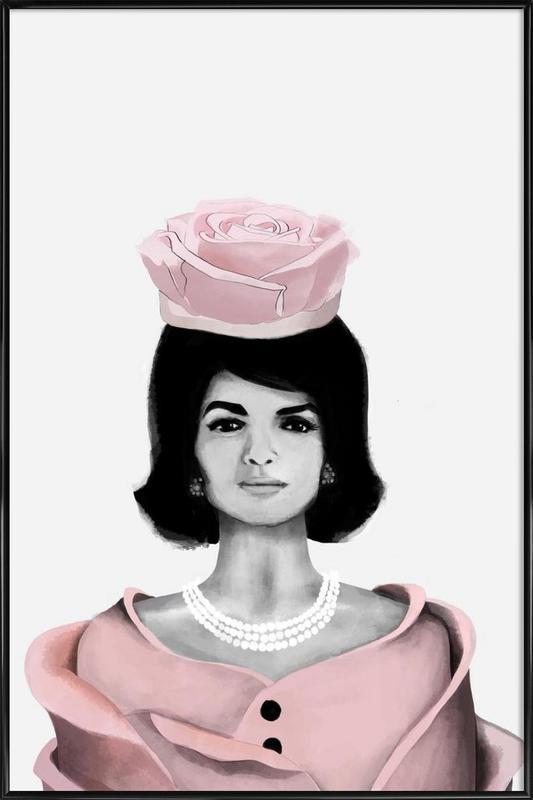Jackie Rose -Bild mit Kunststoffrahmen