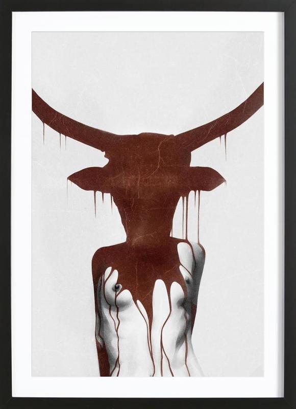 Taurus -Bild mit Holzrahmen