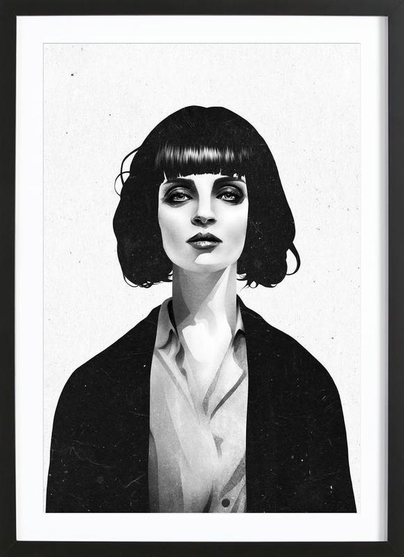 Mrs Mia Wallace -Bild mit Holzrahmen