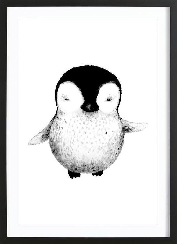 Penguin affiche sous cadre en bois