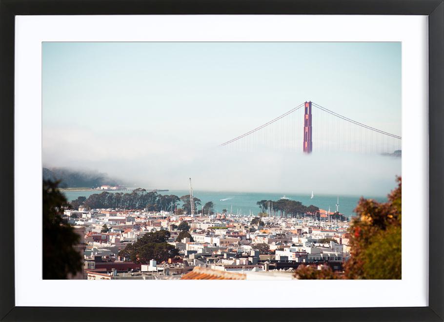 Golden Gate Bridge -Bild mit Holzrahmen