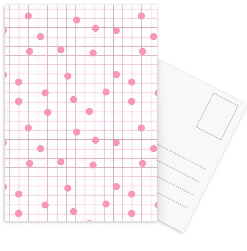 Dotline Pink -Postkartenset