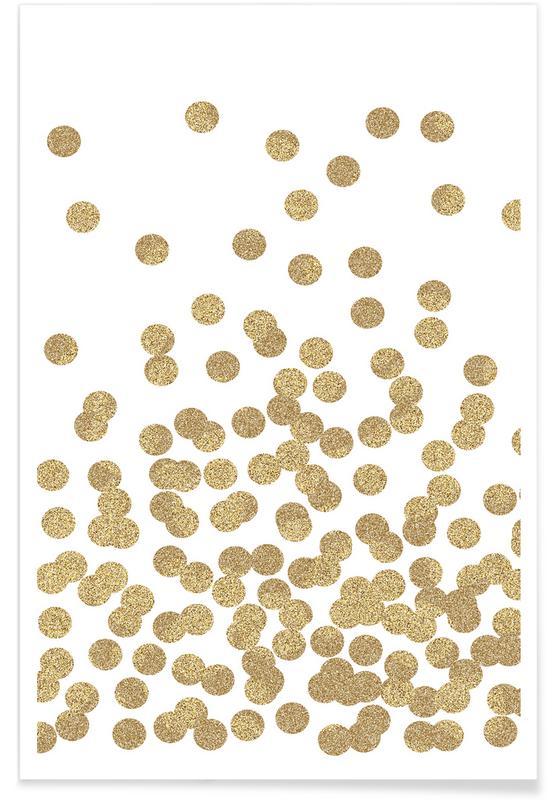 Gold Glitter Premium Poster