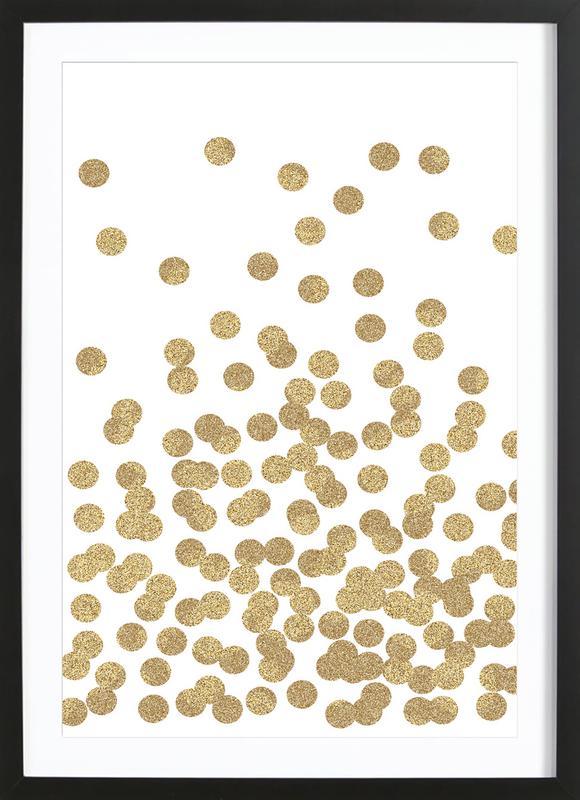 Gold Glitter Premium Poster gerahmt