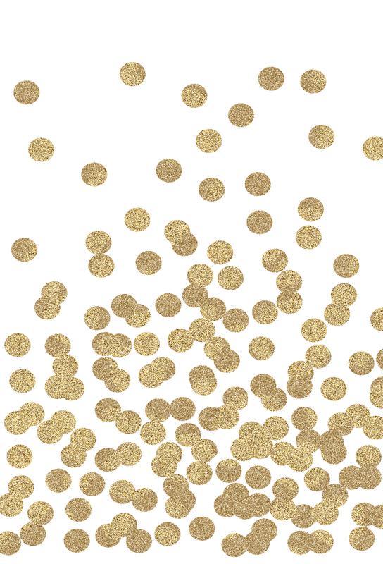 Gold Glitter Acrylglasbild