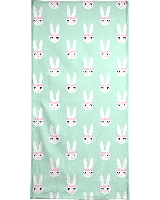 Easter Bunny Mint -Handtuch