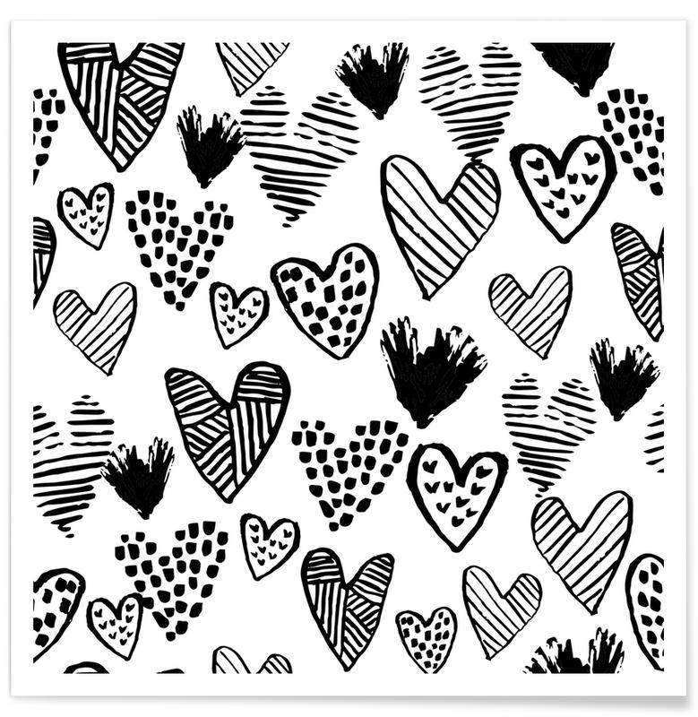 Valentines B&W poster