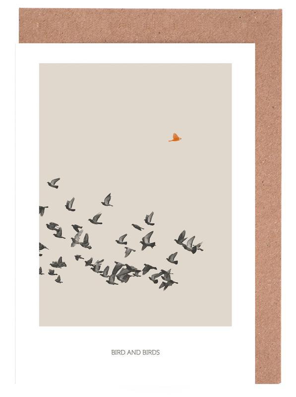 Bird And Birds Grußkartenset