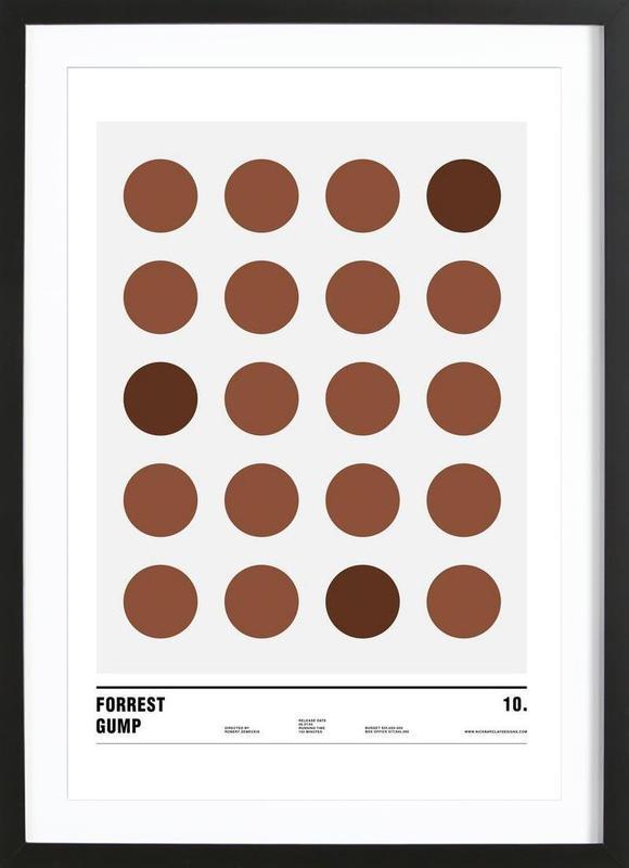 Forrest Gump Premium Poster gerahmt