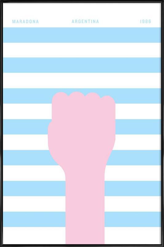 Maradona 1986 Framed Poster