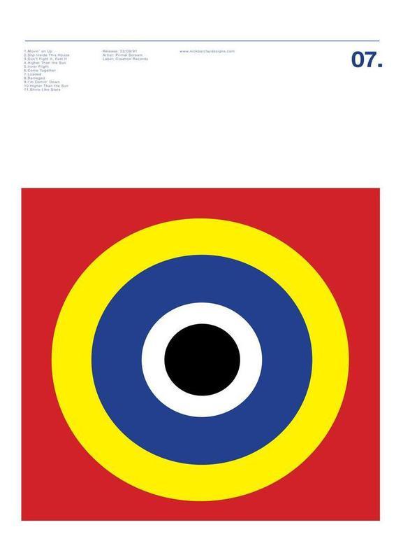 Primal Scream Screamadelica Leinwandbild | Dekoration > Bilder und Rahmen > Bilder | Mehrfarbig | Holz