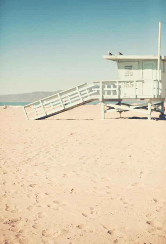 Santa Monica Beach Hut alu dibond