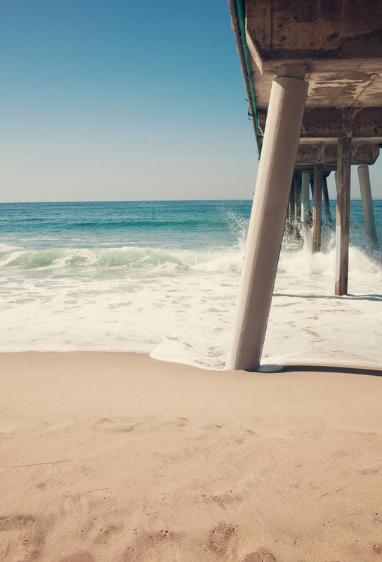 Hermosa Beach Pier alu dibond