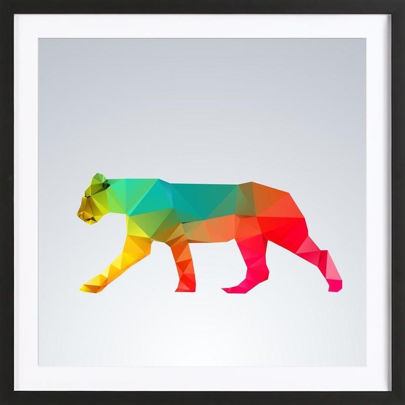Glass Animals - Lioness -Bild mit Holzrahmen