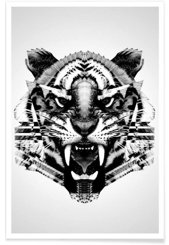 Geometrischer Tiger -Poster