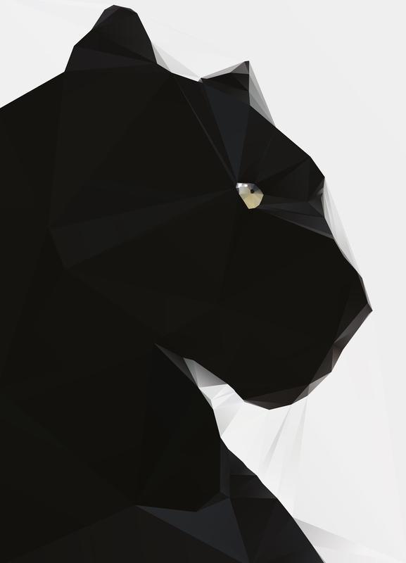 Black Panther Geo Canvas Print