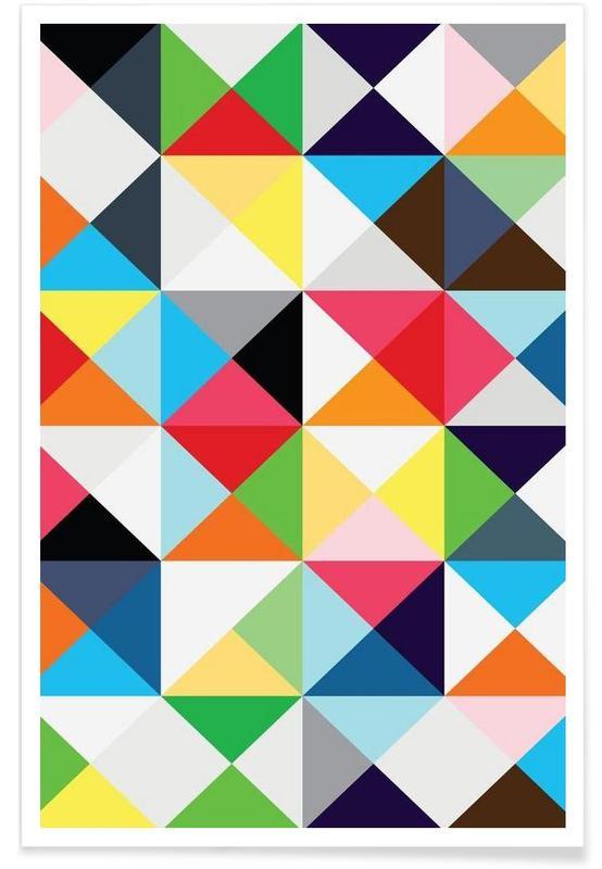 Geometric morning affiche