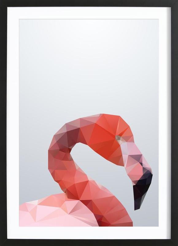 Geo Flamingo Framed Print