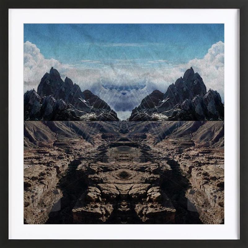 Someday - Landscape -Bild mit Holzrahmen