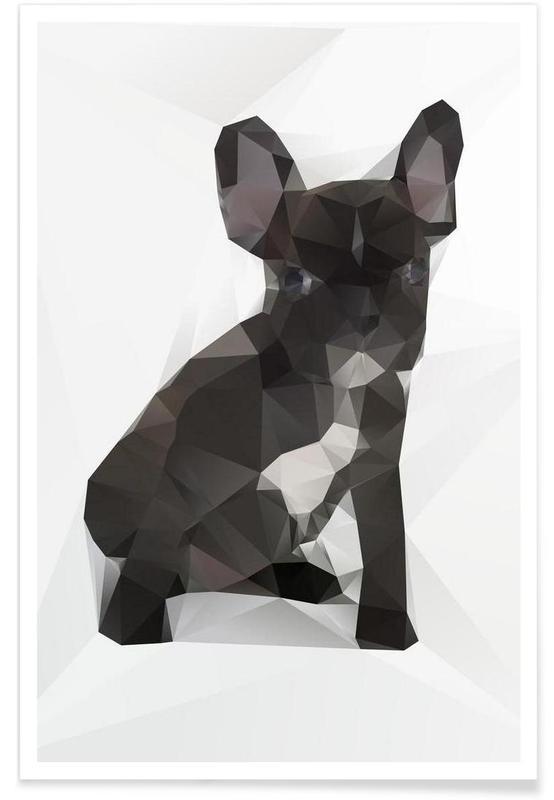 Geometrische Bulldogge -Poster