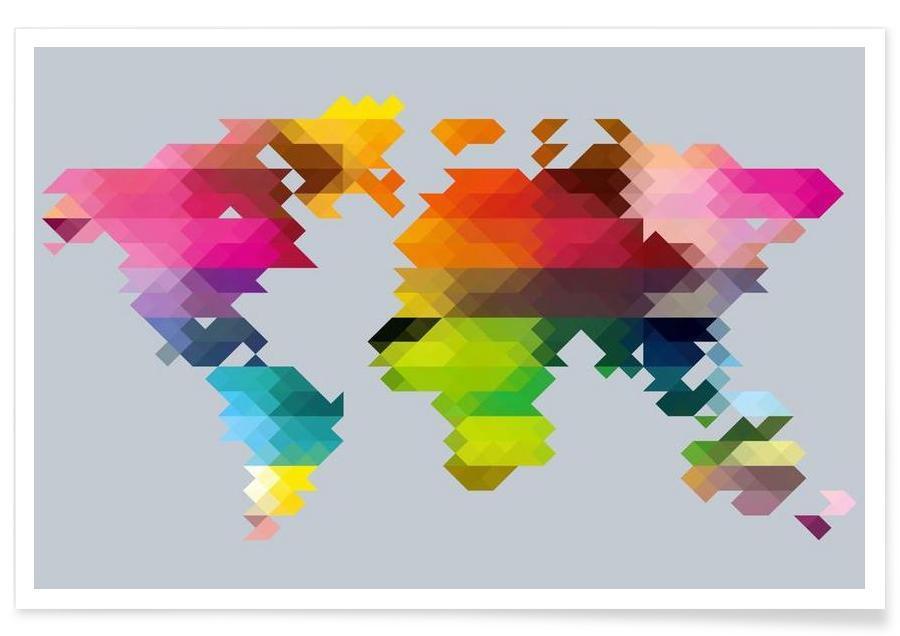 Geo World Map poster