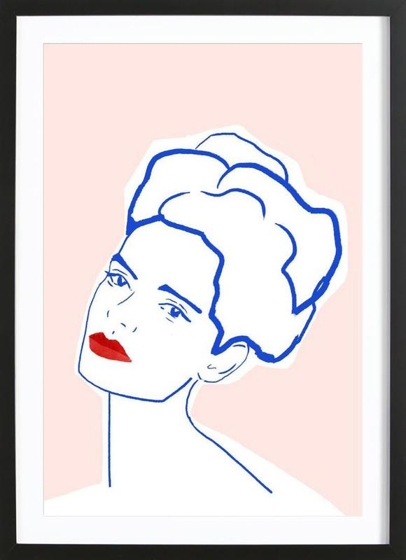 Girl With Red Lips Framed Print