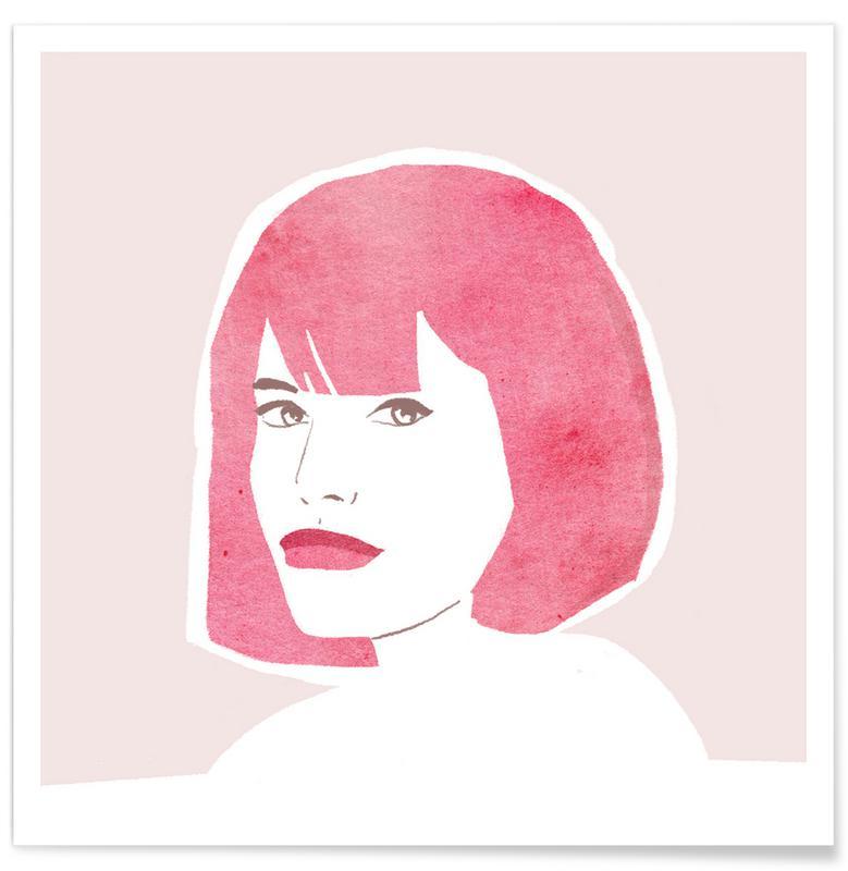 Pink Hair Girl poster