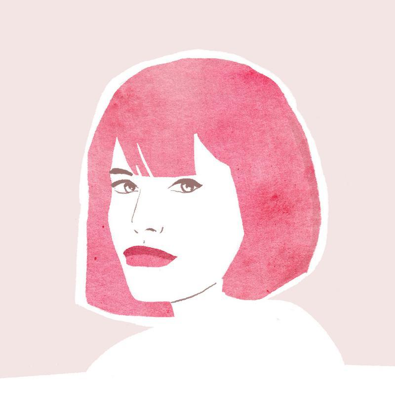 Pink Hair Girl canvas doek