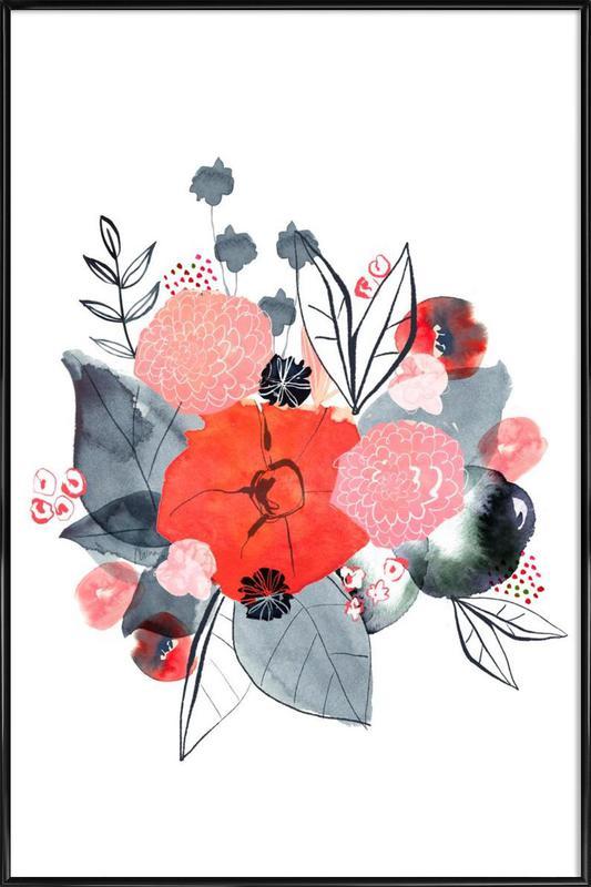 Flowers -Bild mit Kunststoffrahmen