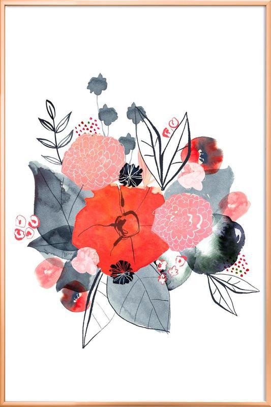 Flowers Poster in Aluminium Frame