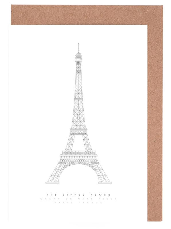 The Eiffel Tower Grußkartenset | Dekoration > Accessoires | Mehrfarbig