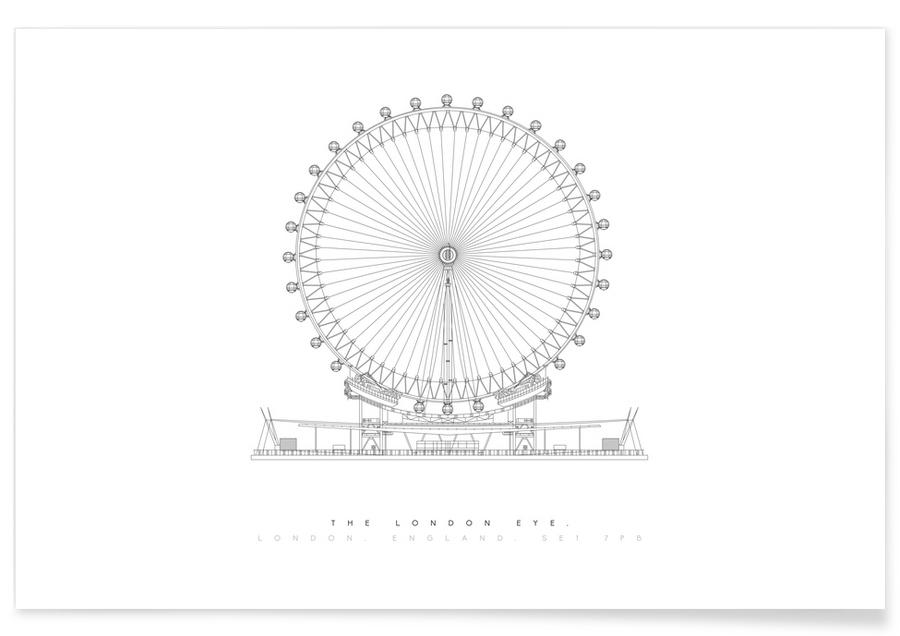 London Eye-Entwurf -Poster