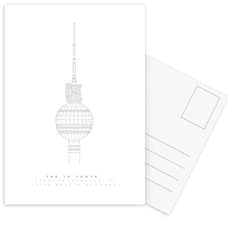 The TV Tower Postcard Set