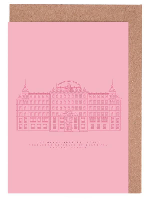 The Grand Budapest Hotel Pink Greeting Card Set