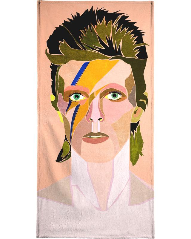 David Bowie Portrait Bath Towel