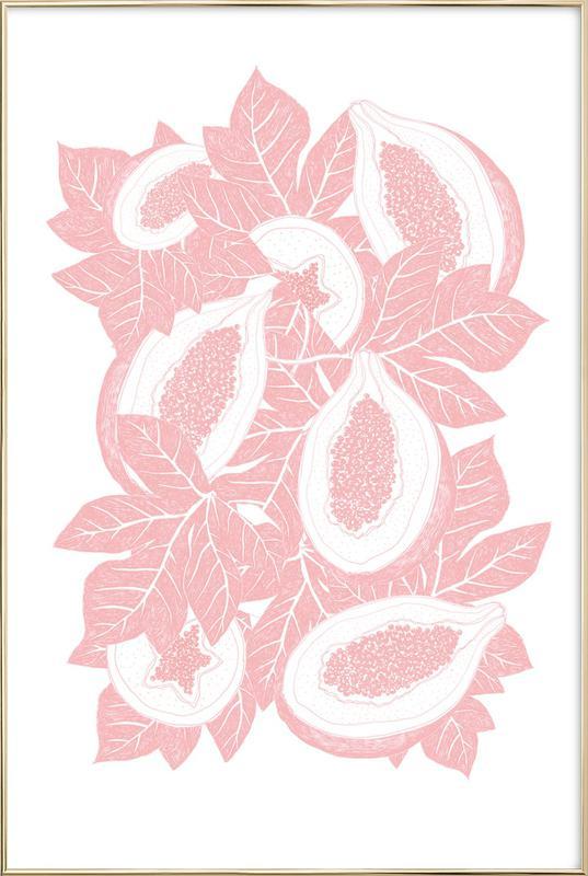 Mango -Poster im Alurahmen