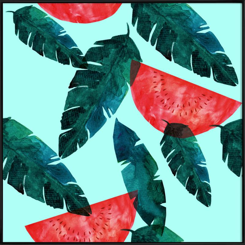 Melon Pattern affiche encadrée