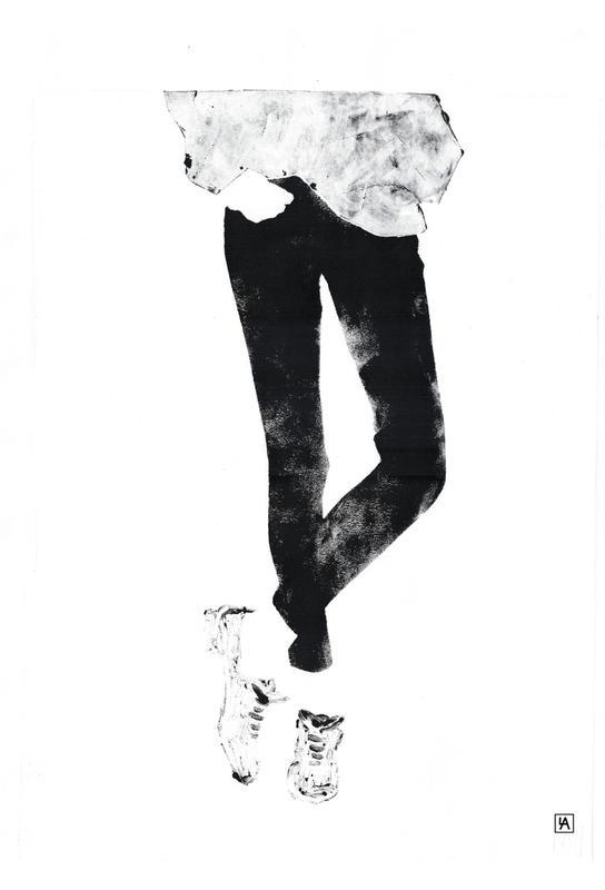 Monotype 3 Acrylglasbild | Dekoration > Bilder und Rahmen > Bilder | Mehrfarbig | Aluminium