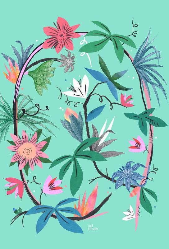 Botanica Passionflower 1 tableau en verre
