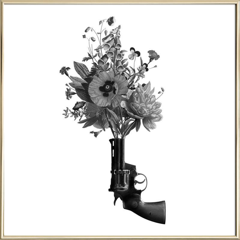 Revolver Poster im Alurahmen | Dekoration > Bilder und Rahmen > Poster | Mehrfarbig