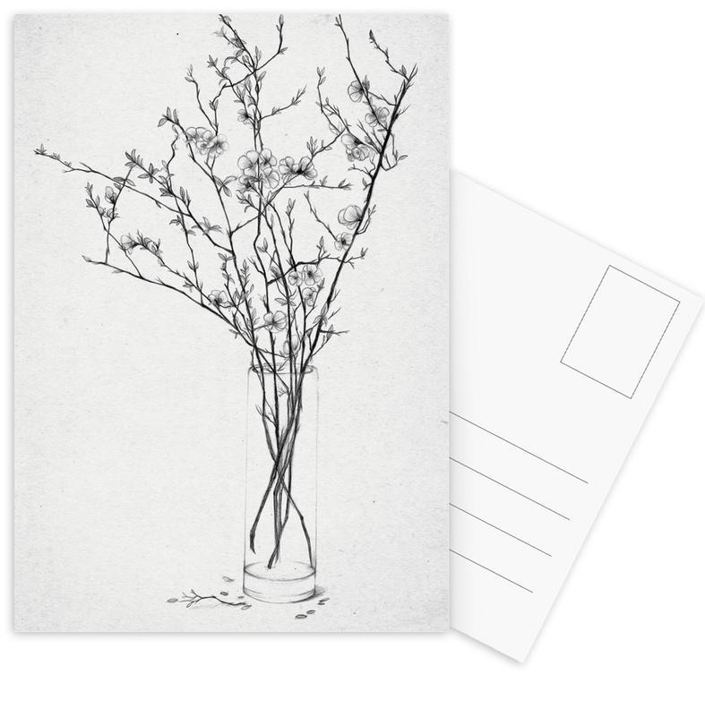 Les Fleurs 2 Postcard Set