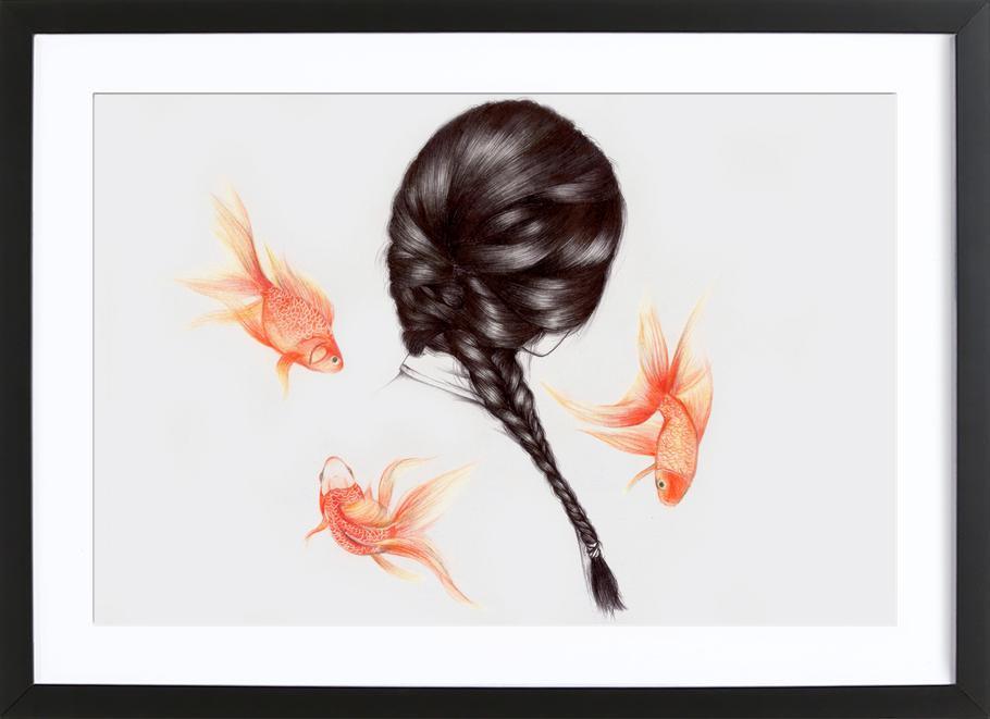 Fish Hair 1 ingelijste print