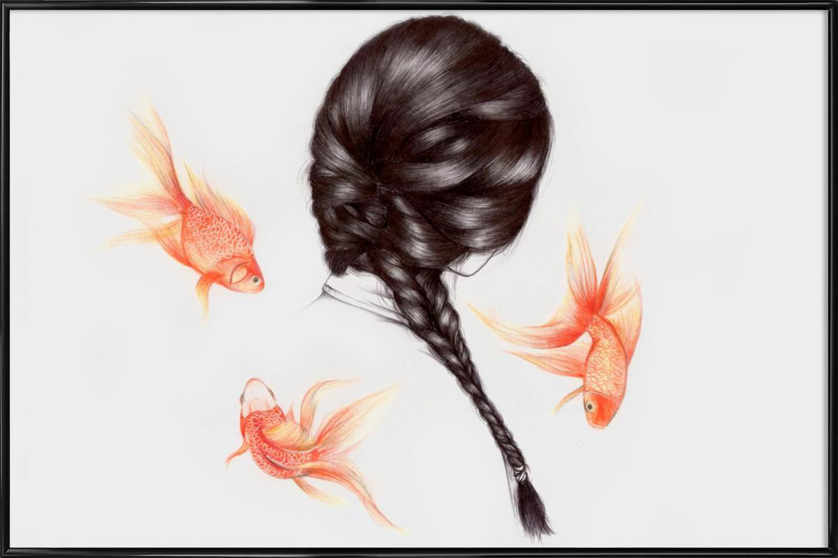Fish Hair 1 ingelijste poster
