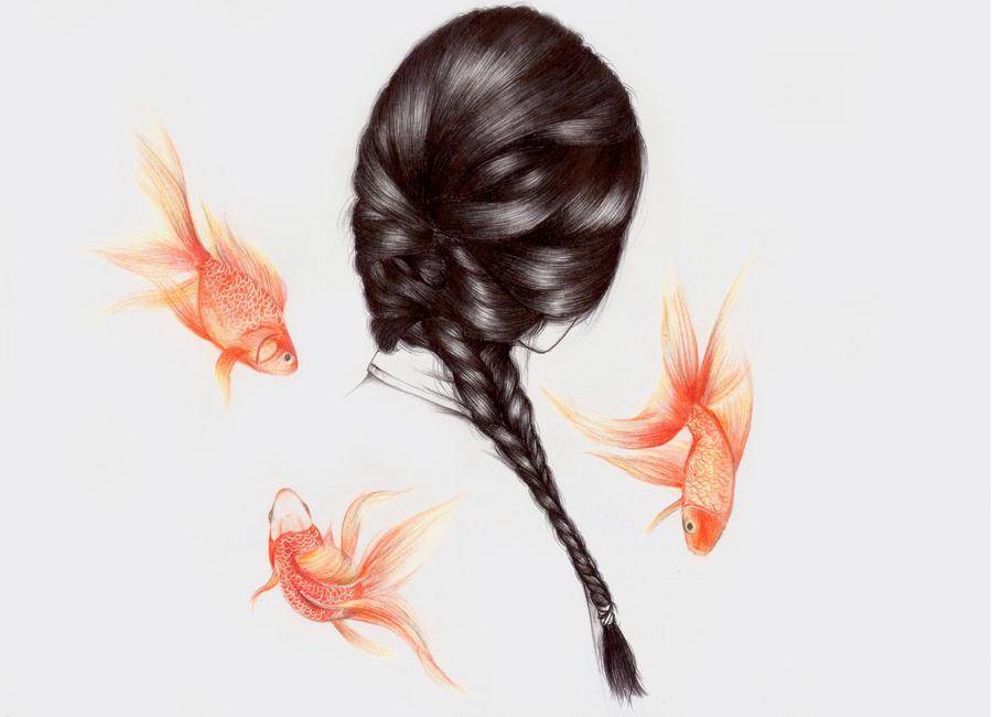 Fish Hair 1 -Leinwandbild