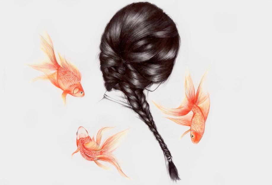 Fish Hair 1 acrylglas print