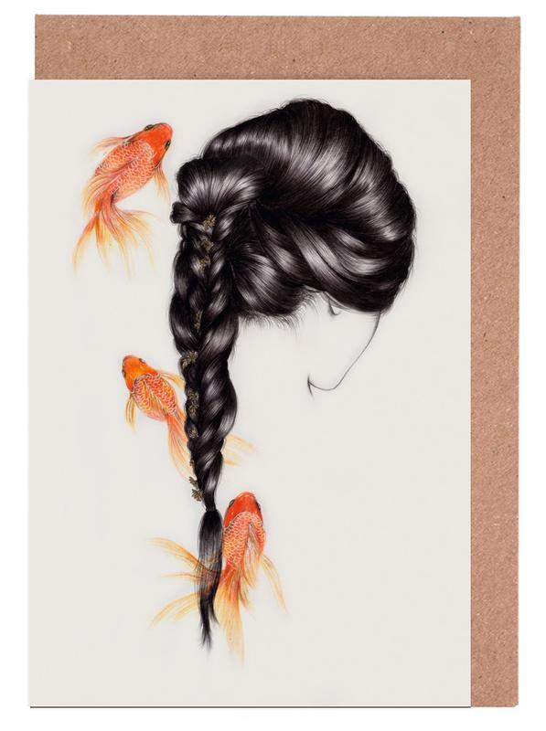 Fish Hair 3 Grußkartenset