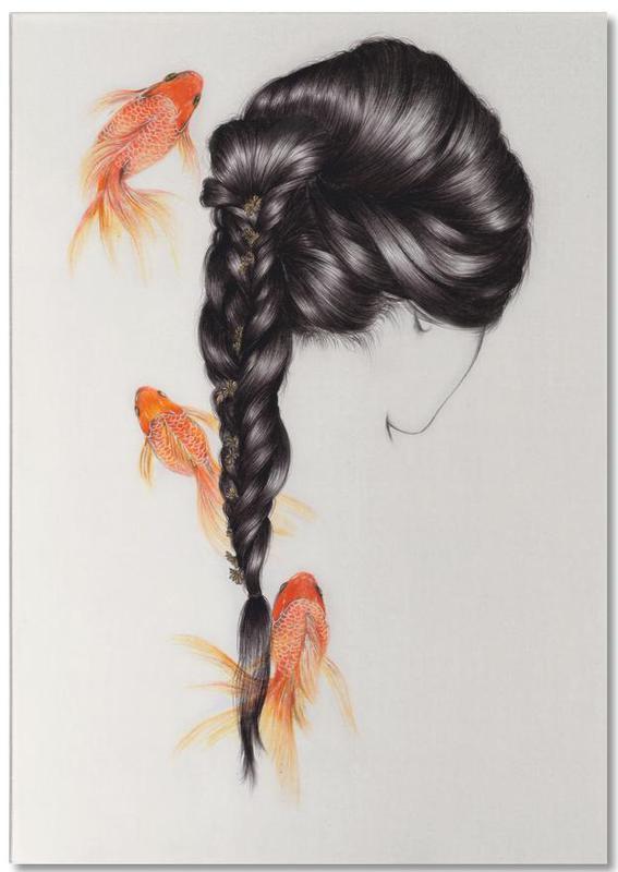 Fish Hair 3 Notizblock | Dekoration > Accessoires | Mehrfarbig | Papier