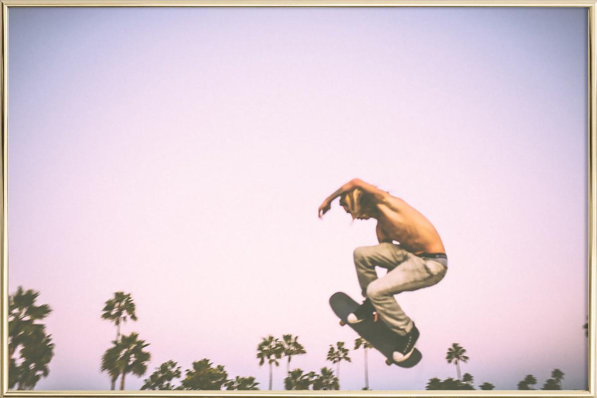 Skate Dreams -Poster im Alurahmen