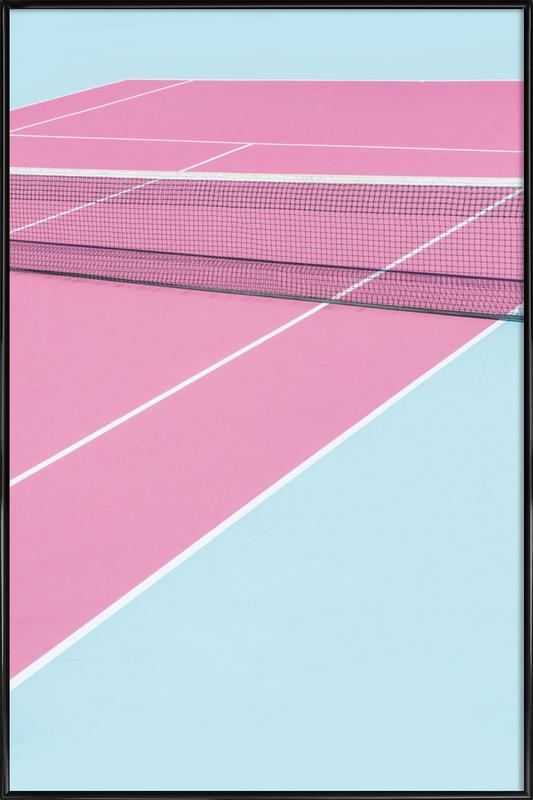 Pink Court - Net Framed Poster